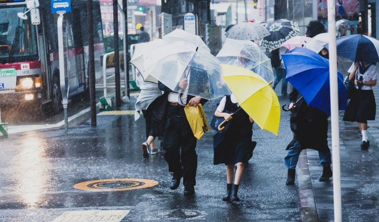 Rainy season in Japan