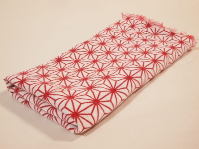 Tenugui hand towel has a simple beauty